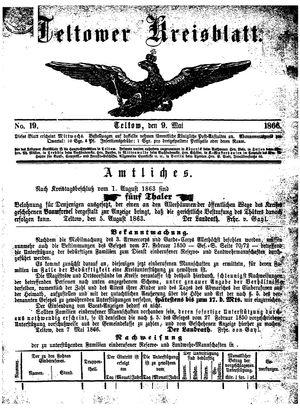 Teltower Kreisblatt vom 09.05.1866