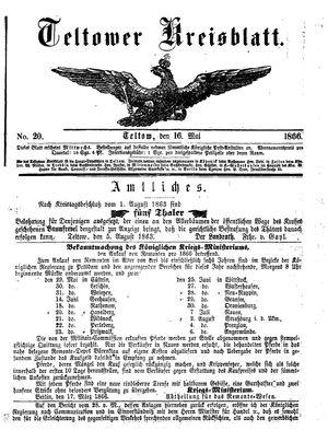 Teltower Kreisblatt vom 16.05.1866