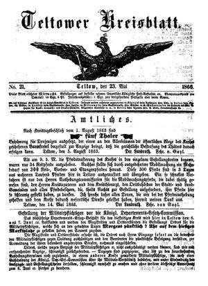 Teltower Kreisblatt vom 23.05.1866