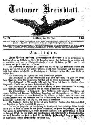 Teltower Kreisblatt on Jul 18, 1866