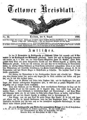 Teltower Kreisblatt vom 08.08.1866