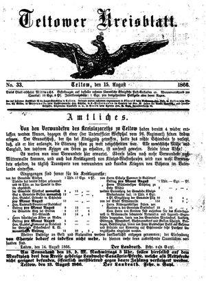 Teltower Kreisblatt vom 15.08.1866