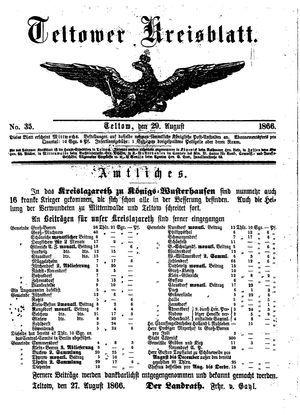 Teltower Kreisblatt vom 29.08.1866