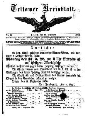 Teltower Kreisblatt vom 12.09.1866