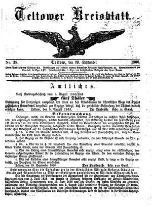 Teltower Kreisblatt vom 19.09.1866