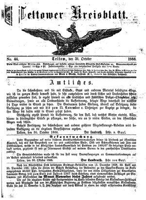 Teltower Kreisblatt vom 31.10.1866