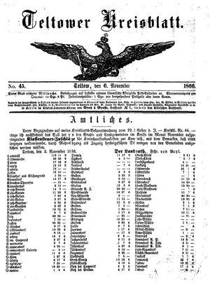 Teltower Kreisblatt vom 06.11.1866