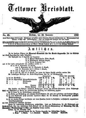 Teltower Kreisblatt vom 28.11.1866