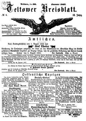 Teltower Kreisblatt vom 30.01.1867
