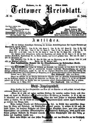 Teltower Kreisblatt vom 06.03.1867