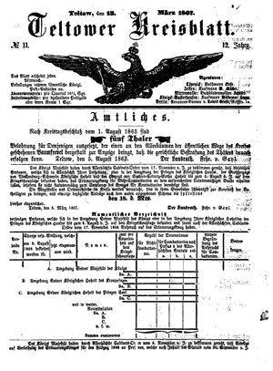 Teltower Kreisblatt vom 13.03.1867