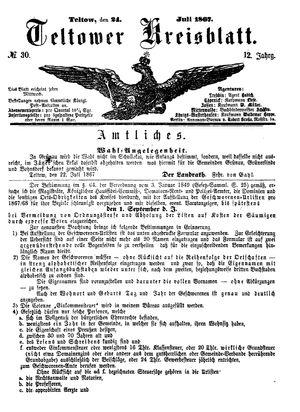 Teltower Kreisblatt vom 24.07.1867