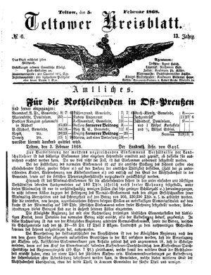 Teltower Kreisblatt vom 05.02.1868