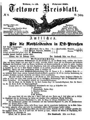 Teltower Kreisblatt vom 19.02.1868