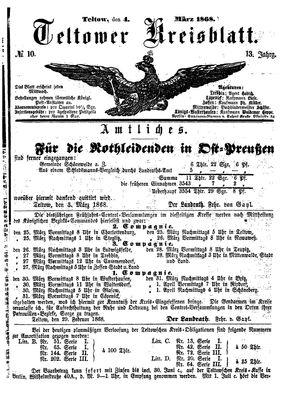 Teltower Kreisblatt vom 04.03.1868