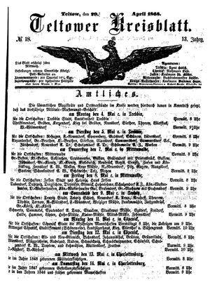 Teltower Kreisblatt on Apr 29, 1868