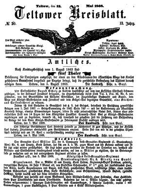 Teltower Kreisblatt vom 13.05.1868