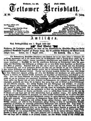 Teltower Kreisblatt vom 15.07.1868