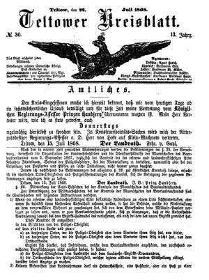Teltower Kreisblatt vom 22.07.1868