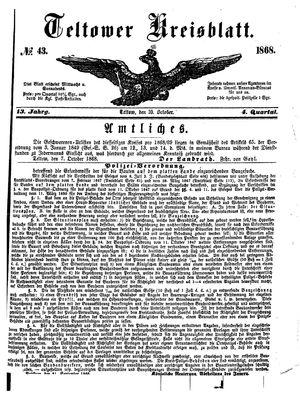Teltower Kreisblatt on Oct 10, 1868