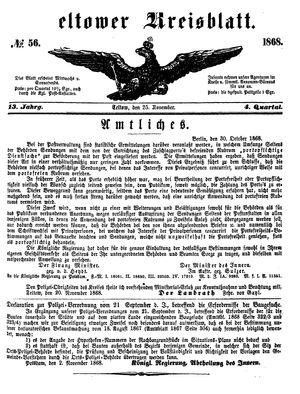Teltower Kreisblatt vom 25.11.1868