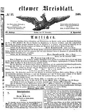 Teltower Kreisblatt on Nov 28, 1868