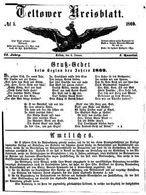 Teltower Kreisblatt vom 06.01.1869