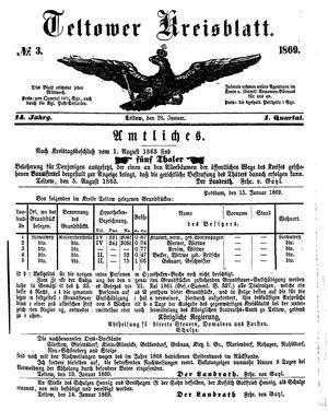 Teltower Kreisblatt vom 20.01.1869