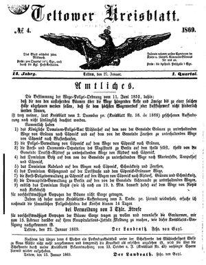Teltower Kreisblatt on Jan 27, 1869