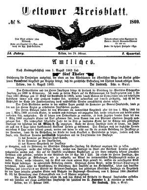 Teltower Kreisblatt vom 24.02.1869