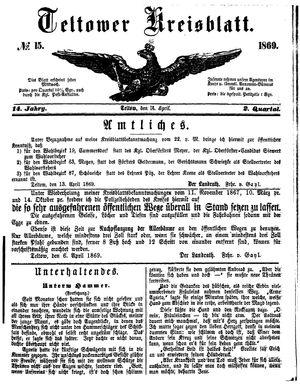 Teltower Kreisblatt vom 14.04.1869