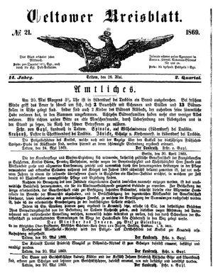 Teltower Kreisblatt vom 26.05.1869