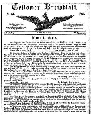 Teltower Kreisblatt on Jun 9, 1869