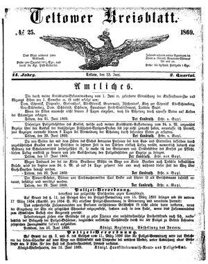 Teltower Kreisblatt vom 23.06.1869