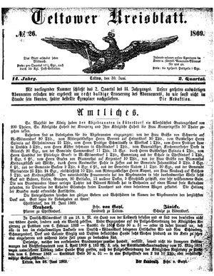 Teltower Kreisblatt on Jun 30, 1869