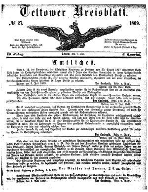 Teltower Kreisblatt vom 07.07.1869