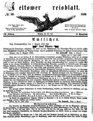 Teltower Kreisblatt vom 28.07.1869