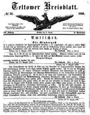 Teltower Kreisblatt vom 11.08.1869