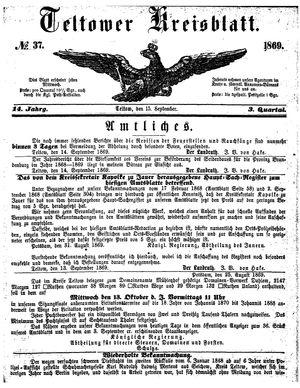 Teltower Kreisblatt vom 15.09.1869