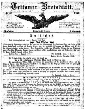 Teltower Kreisblatt vom 17.11.1869