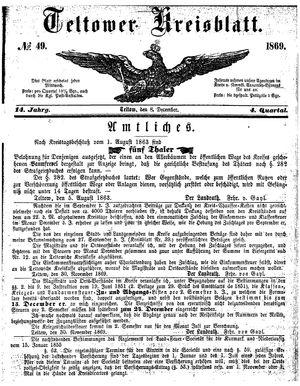 Teltower Kreisblatt on Dec 8, 1869