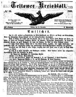 Teltower Kreisblatt vom 15.12.1869