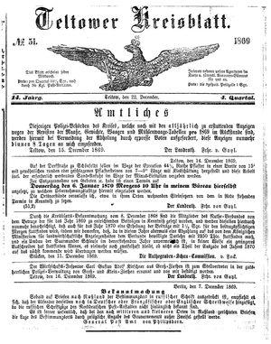 Teltower Kreisblatt on Dec 22, 1869