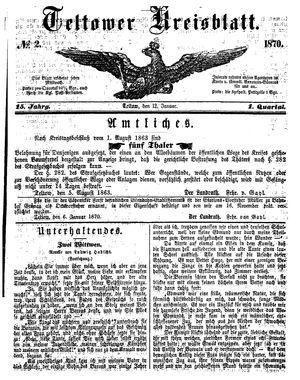 Teltower Kreisblatt vom 12.01.1870