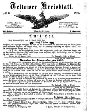 Teltower Kreisblatt vom 19.01.1870
