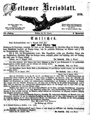Teltower Kreisblatt vom 26.01.1870