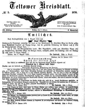 Teltower Kreisblatt vom 02.02.1870