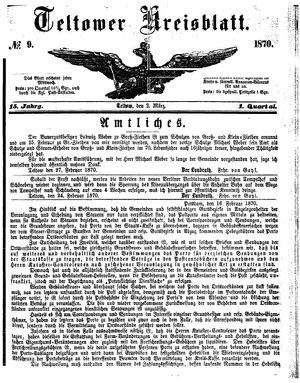 Teltower Kreisblatt on Mar 2, 1870
