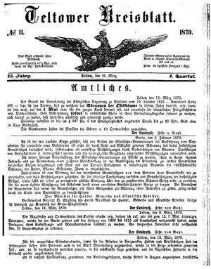 Teltower Kreisblatt vom 16.03.1870