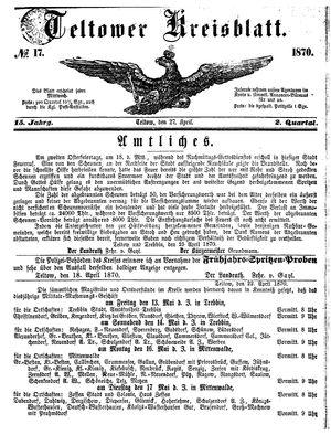 Teltower Kreisblatt vom 27.04.1870